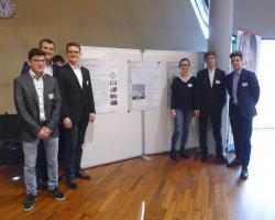 Sparkling Impacts - Posterbeitrag des Projekts (v.l.n.r. Kleedorfer, Appl, Rettig, Kürschner, Homar und Juhas)