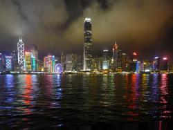 Die fantastische Skyline von Hongkong.