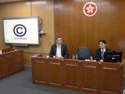 Der Vortrag von Prof Jyh-An Lee (rechts) wurde von Dr. Appl (links) kommentiert.