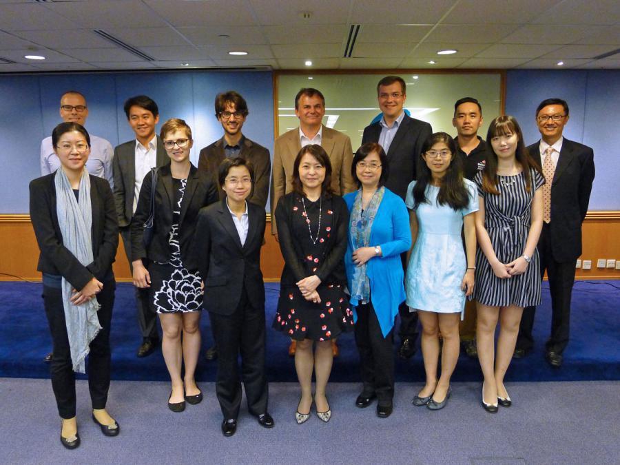 Die Teilnehmenden des 2. PIP-Workshops zu Gast im Hongkong IP-Dept.